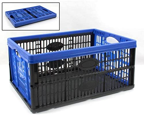 Tontarelli Caja Plegable de plástico 27 x 53 x 37 cm 45 L Color Azul: Amazon.es: Hogar