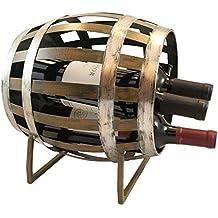 TheopWine Barrel Shaped 3 Bottle Wine Rack
