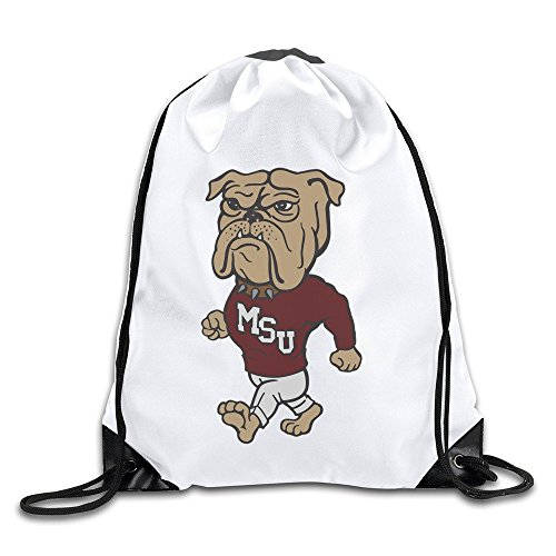 Bag State Gym Bulldogs Mississippi (BOoottty Mississippi State University MSU Bulldogs Logo Drawstring Backpack Bag)