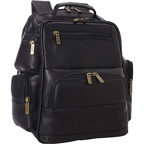 Claire Chase Executive Leather Laptop Backpack in Black ()