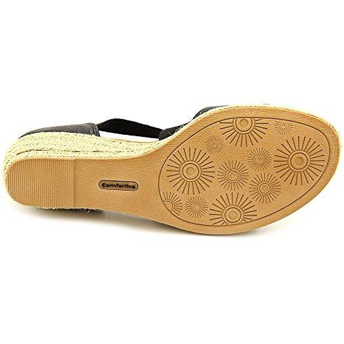 Comfortiva Brye Women US 11 N/S Black Wedge Sandal EU 43 YGdtk