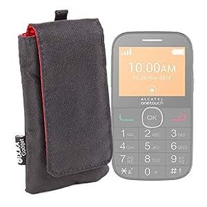 DURAGADGET Funda Acolchada Negra / Roja Para Alcatel One Touch OT 20-04G - Resistente Al Agua