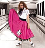 Complete 7-Piece Adult Poodle Skirt Outfit