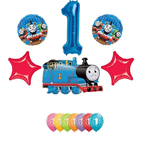 Thomas the Tank Engine Train 1st Happy Birthday Balloon -