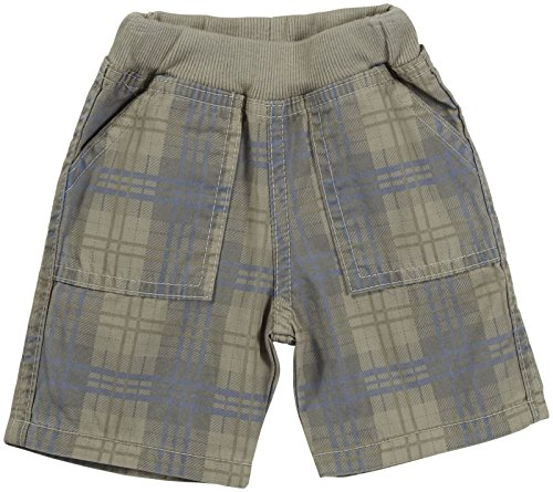 Charlie Rocket Twill Plaid Shorts (Baby) - Sand-6-9 Months