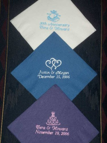 100 Personalized Luncheon Dinner Napkins for Holidays Weddings