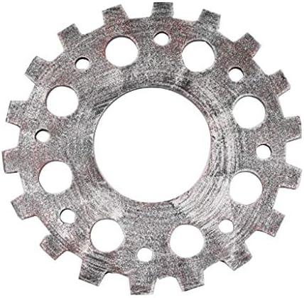 amleso アンティークスチームパンクな歯車チャームペンダント木製ホイールギア工芸家の装飾 - 12cmシルバー