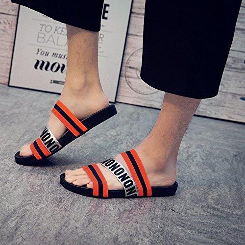 Verano El nuevo patrón encaja bien en cualquier lugar Fashionly Fashion Trend Sandalias del estudiante Elástico diario, rojo, Reino Unido = 9.5, UE = 44
