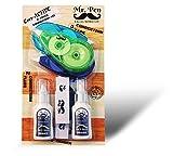 Mr. Pen Correction Set, 3 Correction Tape, 2 Correction Fluid (2-in-1), 3 Erasers, White Correction Pen, White Eraser, Liquid Eraser, Correction Tape White Tape, 8 Piece