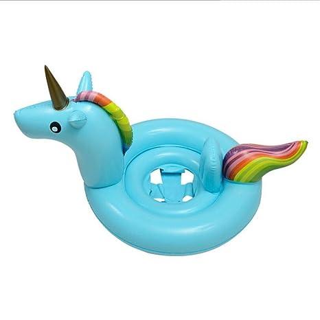 Biback Flotadores para Niños Hinchable Anillo de Natación Unicornio Flotador para bebé Barco Inflable Flotador Piscinas
