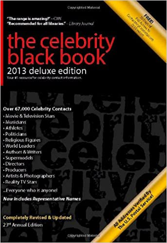 The Celebrity Black Book 2013: Over 67,000 Accurate Celebrity Addresses, Deluxe Edition