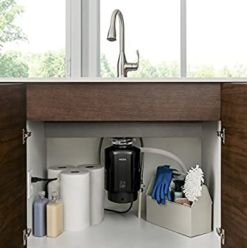Moen GX75C GX Series 3 4 Horsepower Continuous Feed Compact Garbage Disposal, Power Cord Included