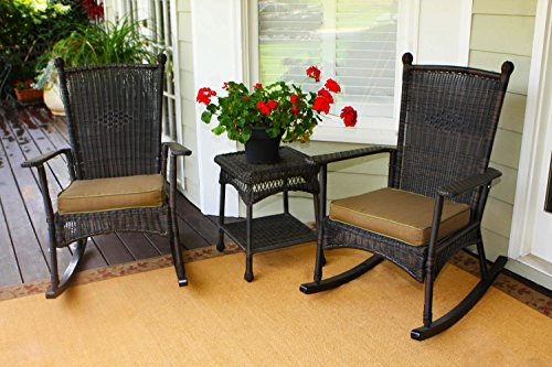 Portside Classic Rocking Chair Set - Dark Roast