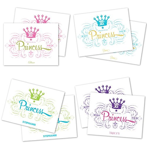 Princess Crown Personalized Note Cards