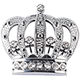Quentacy Crown Emblem Crystal Stickers Decal Cars Truck SUV Bumper Window Laptops Luggage Bicycles Badge 3D Silver Rhinestones Body Accessories Decoration Gift