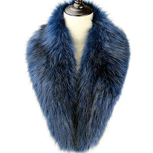 Dikoaina Extra Large Women's Faux Fur Collar for Winter Coat ()