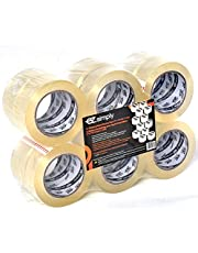 EZ.Simply Shipping Depot Packing Tape - Industrial Grade - 12 Pack - 110 Yards Per Rolls - Moisture Resistant - High Tensile Stretch