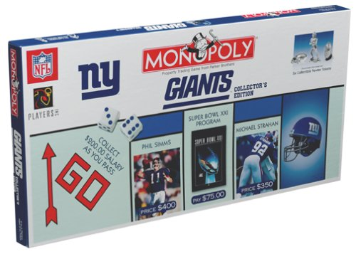 New York Giants Football Collectors Edition Monopoly Board ()