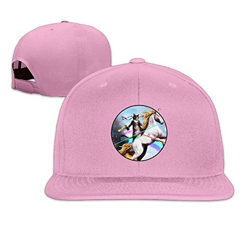 Custom Unisex-Adult Cat With Rainbow Horse Casual Trucker Caps - Allens Boots Austin