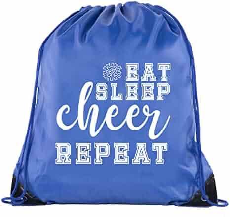 4b3de22e68 Cheer Bags, Pom Pom and Cheerleader drawstring Backpacks, Cheerleader Team  bags