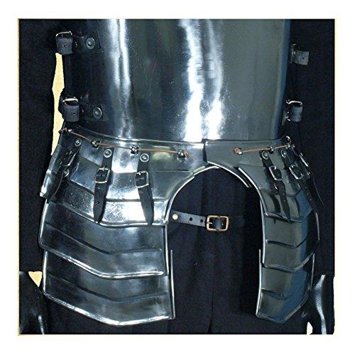 - Armor Venue: Medieval MERC Steel Tassets Waist Body Armour Silver One Size