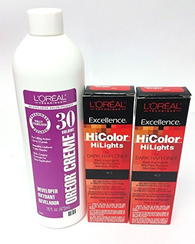 loreal-hicolor-hilights-for-dark-hair-only-red-2-pack-with-16-oz-oreor-creme-30-developer-combo-deal