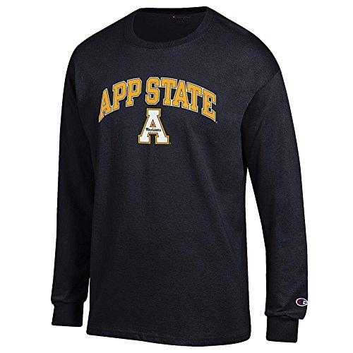 (Elite Fan Appalachian State Mountaineers Men's Long Sleeve Arch Tee, Black, Medium )