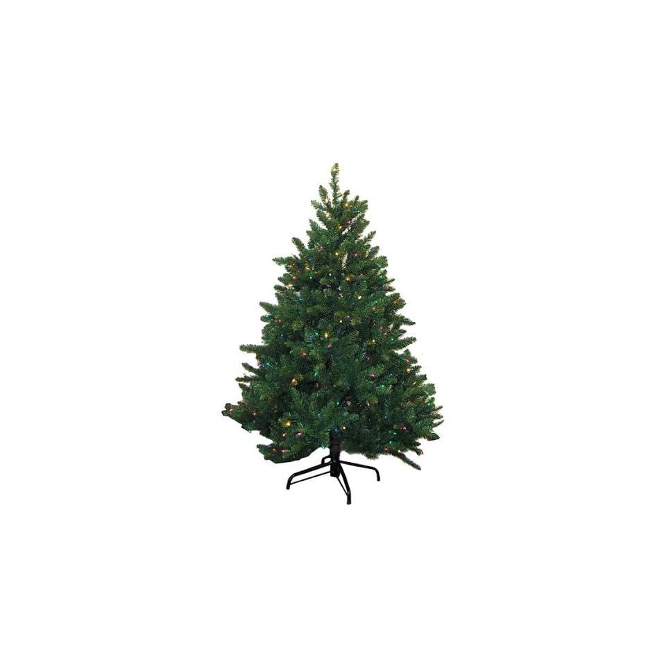 4.5 Deluxe Fraiser Fir Artificial Christmas Tree   Pre Lit Multi Color Lights