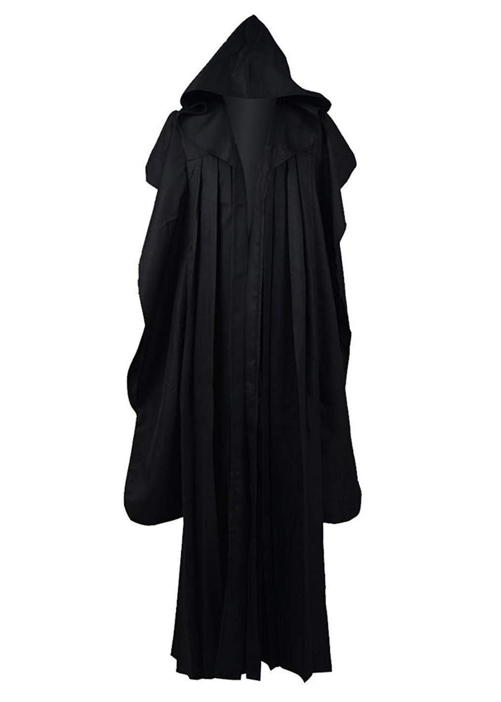 Mens Jedi Anakin Black Robes Cosplay Costumes for Halloween