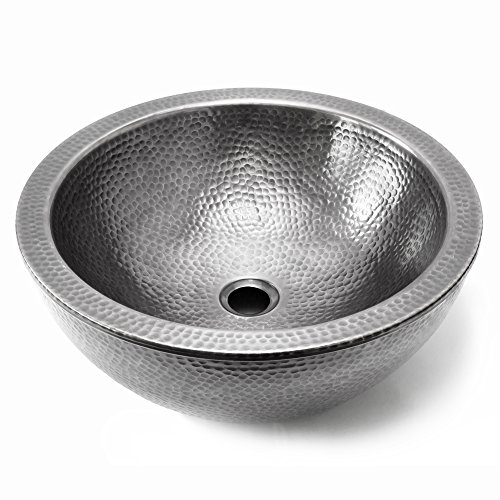 Houzer HW-DOLCE15S Hammerwerks Series Pewter Double Wall Vessel Sink,