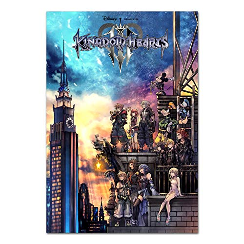 - Printing Pira Kingdom Hearts III Poster - PS4 Exclusive - Box Art (24x36)