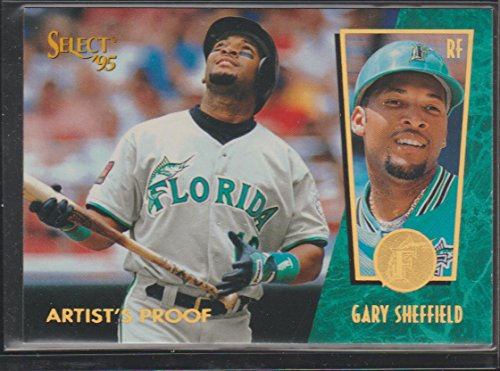 fan products of 1995 Select Gary Sheffield Marlins Artist Proof Baseball Card #62