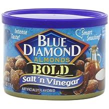 Blue Diamond Almonds, Salt & Vinegar, 6 Ounce (Pack of 12) by Blue Diamond Almonds