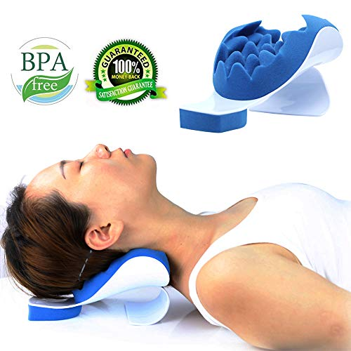 Keep wish Neck and Shoulder Pain Relief Support Relaxer Cervical Pillow Massage Traction Device to Help Ease Neck Pain and Shoulder Pain and Provide Relief by Easing Tension