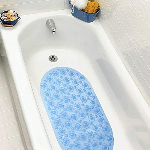 - Highgradelife2018 Non-Slip Bathtub Mat Massaging Bath Shower Mat Pebbled See-Through PVC Shower Tub Mat Suction Cups 27.2