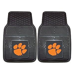 FANMATS NCAA Clemson University Tigers Vinyl Heavy Duty Car Mat