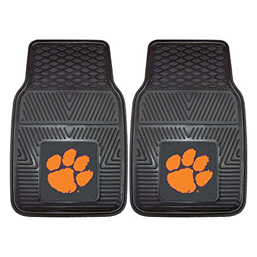 FANMATS NCAA Clemson University Tigers Vinyl Heavy Duty Car - Floor Tiger Mat