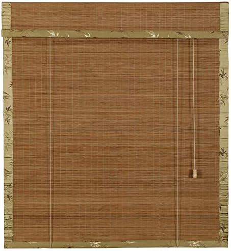屋外の屋内竹製ローラーブラインド、和風装飾のガゼボパーティション防水シャッター、バルコニープライバシー遮光カーテン、手巻き竹製カーテン、サイズはカスタマイズ可能ZDDAB
