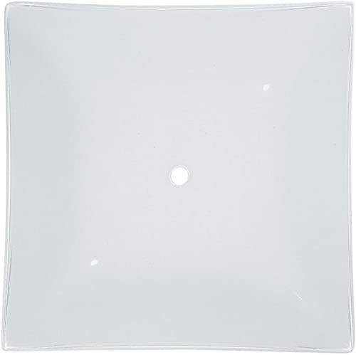 White Square Glass Shade