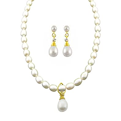 Buy sri jagdamba pearls pearl pendant set for women online at low sri jagdamba pearls pearl pendant set for women aloadofball Image collections