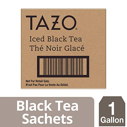 Tazo Black Unsweetened Fresh Brewed Iced Tea Non GMO, 1 gallon, Pack of 20