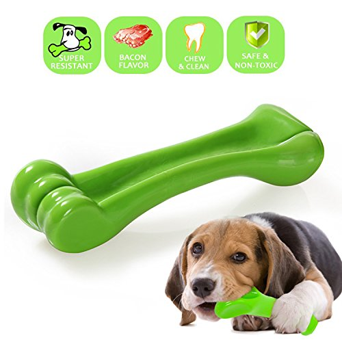 GUSTYLE Durable Dog Chew Toys, Bone Shape Chew Toy for Puppy Dogs-Best for Aggressive Chewers/Tooth Cleaning (Medium) Review