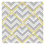 Sweet Jojo Designs Yellow and Gray Chevron Zig Zag Fabric Memory/Memo Photo Bulletin Board