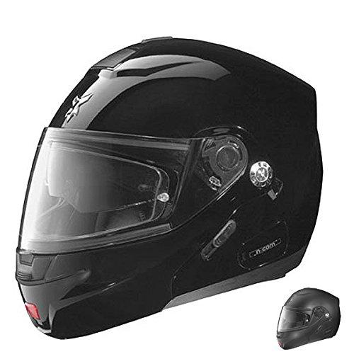 Nolan N91 Outlaw Gloss Black Modular Helmet, S