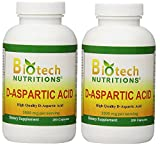 Biotech Nutritions D-Aspartic Acid Dietary Supplement, 3000 mg (400 Capsules)