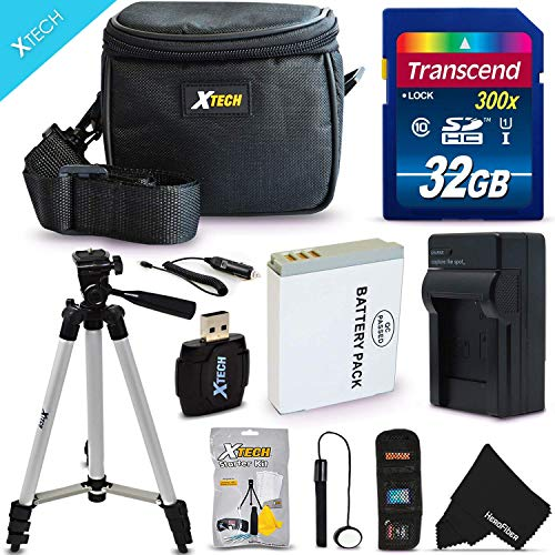 """cessory Kit for Canon Powershot SX530 HS, SX610 HS, SX710 HS, SX520 HS, SX600 HS, SX700 HS, SX510 HS, SX500 IS, SX280 HS, SX260 HS, SX170 IS, SD1300 IS, SD1200 IS, SD980, SD770, SD1300, D30, D20, D10, IXUS 85 IS, IXUS 95 IS, IXUS 200 IS Digital Cameras Includes 32GB High Speed Memory Card + 1 High Capacity NB-6L / NB6LH Lithium-ion Battery with Quick AC/DC Charger + 60"""" Inch Full Size Tripod + a Water Resistant Padded Case + Universal Card Reader + Flexible Mini Table Tripod + Memory Case Wallet Holder + Screen Protectors + Deluxe Cleaning Kit + Lens Cap Keeper + Ultra Fine HeroFiber Cleaning Cloth ()"""