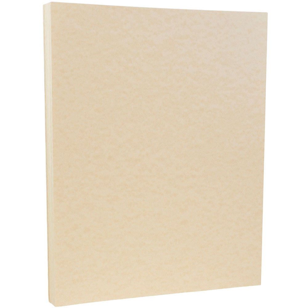 JAM PAPER Parchment 65lb Cardstock - 8.5 x 11 Letter Coverstock - Natural Recycled - 50 Sheets/Pack by JAM Paper (Image #1)