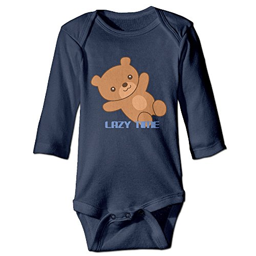 [GMRLOVE Lazy Time Bear Long Sleeve Romper Jumpsuit For 6-24 Months Boys & Girls 6 M Navy] (Caitlyn Costumes)