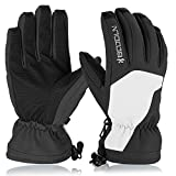 Ski Gloves, Hicool Winter Gloves Thermal Gloves Snowboard Gloves Waterproof Windproof Gloves with Adjustable Cuffs, Best for Snowmobile Snowboarding Skiing Motorcycle Cycling and Ohter Outdoor Sports