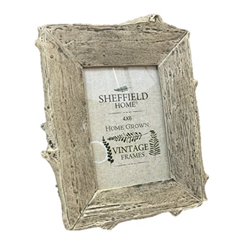 Tan Faux Driftwood 4 x 6 Table Top Picture Frame Vertical Orientation